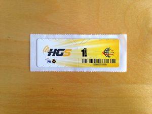 PTT'nin verdiği HGS etiketi