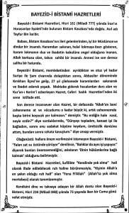 Bayezid-i Bestami Türbesi tanıtım yazısı, Hatay, Kırıkhan